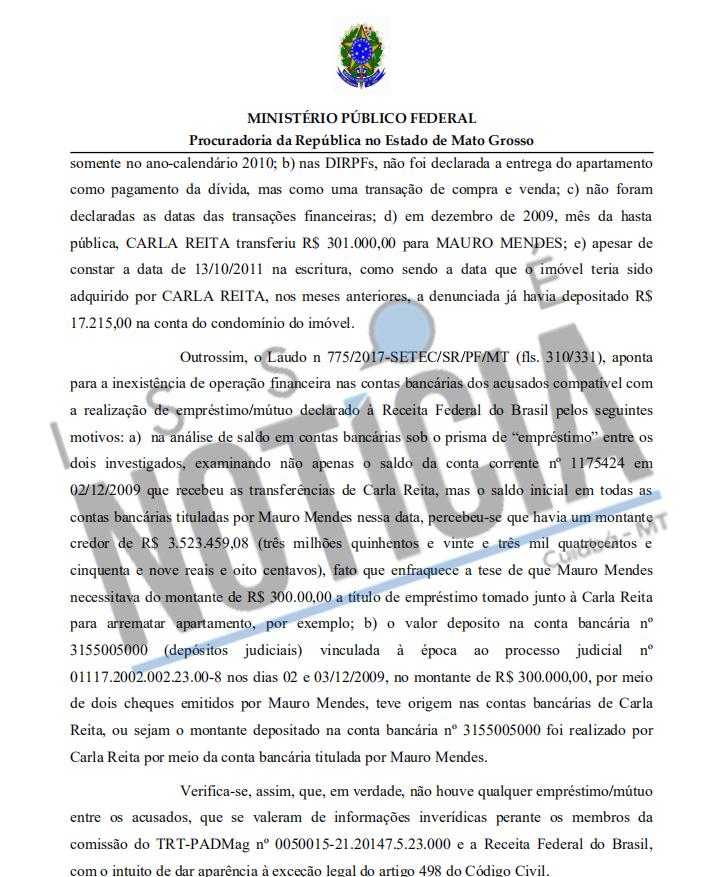 MPF mauro Mendes denúncia
